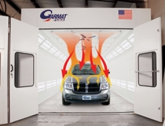 Accele-Cure Spray Booth by Garmat available at Cleveland Spray Booth Specialists