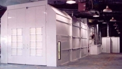 Col-Met Classic Crossdraft Truck Spray Booth available at Cleveland Spray Booth Specialists